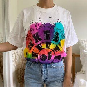 Vintage Boston Wheel Of Fortune Cyrk Sport T-Shirt